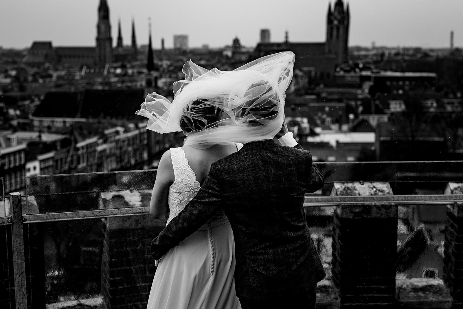 Watertoren Delft, bruidsfotograaf Nederland