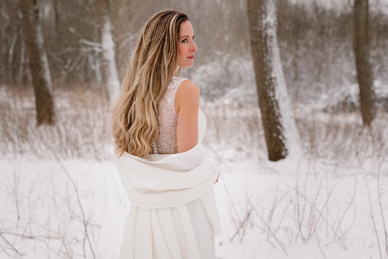 Winterbruiloft, trouwen in de sneeuw, Delftse Hout